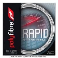 【在庫処分特価】ポリファイバー(Polyfibre) ラピッド(Rapid) ホワイト 1.20mm/1.25mm/1.30mm ポリエステルストリングス テニス ガット パッケージ品