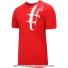 ナイキ(Nike) 2017年秋冬 ロジャー・フェデラーシグネチャーモデル RFロゴ入り コートTシャツ レッド Action Red/White国内未発売の画像1