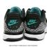 ナイキ(Nike) ロジャー・フェデラー×エアジョーダン 限定モデル ズームヴェイパー RF X AJ3 ブラック/クリアジェイド/ホワイト テニスシューズの画像6