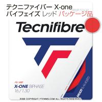 テクニファイバー(Tecnifiber) X-ONE バイフェイズ(biphase) レッド 1.18mm/1.24mm/1.30mm ナイロンストリングス テニス ガット パッケージ品