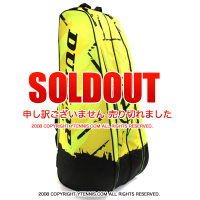 ダンロップ(Dunlop) レボリューションNT(Revolution NT ) テニスバッグ ラケット6本収納 ネオンイエロー 国内未発売カラー ラケットバッグ