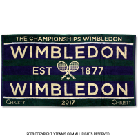 ★新品アウトレット★ウィンブルドン(Wimbledon) 2017年モデル オフィシャル商品 限定販売 チャンピオンシップタオル パープル 全英オープンテニス