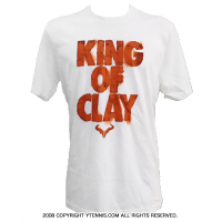 �ʥ���(Nike) ��ե����롦�ʥ�����ʩͥ����ǰ�����ǥ� KING OF CLAY T����� �ۥ磻��/���졼 ��ߥƥåɥ��ǥ������