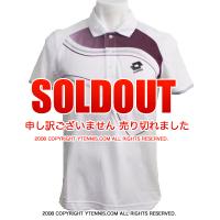 ロット(Lotto) メンズ ポロシャツ グラフィックLED ホワイト/パープル 国内未発売モデル