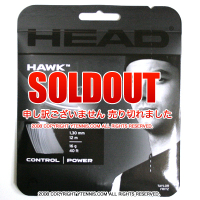 ヘッド(HEAD) ホーク(HAWK) ブラック 1.30mm ポリエステルストリングス テニス ガット パッケージ品