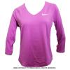 セール品 ナイキ(Nike) ピュア 3/4スリーブトップ シャツ ヴィオラ