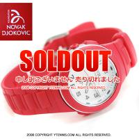 セール品 NDFノバクジョコビッチファウンデーション LORUS キッズ・レディースサイズ 腕時計 ジョコビッチモデル レッド