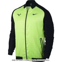 セール品 ナイキ(Nike) 2017年春 ラファエル・ナダルシグネチャーモデル ブルロゴ入り ラファジャケット ゴーストグリーン/ブラック 国内未発売