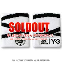 フレンチオープンテニス ローランギャロス アディダス(adidas)Y-3 リストバンド オフィシャル商品 全仏オープンテニス ホワイト/ブラック